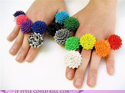 cool accessories duct tape ring of the day rings