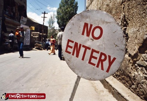 entry india no entry sign vowels - 5949394688