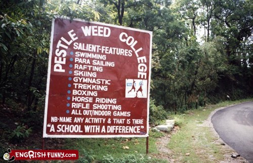 college,engrish,india,school,sign