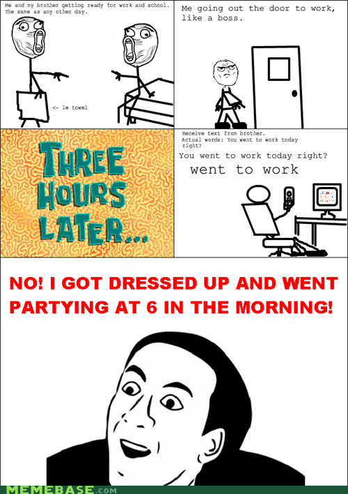 Rage Comics texting work you dont say - 5949494016