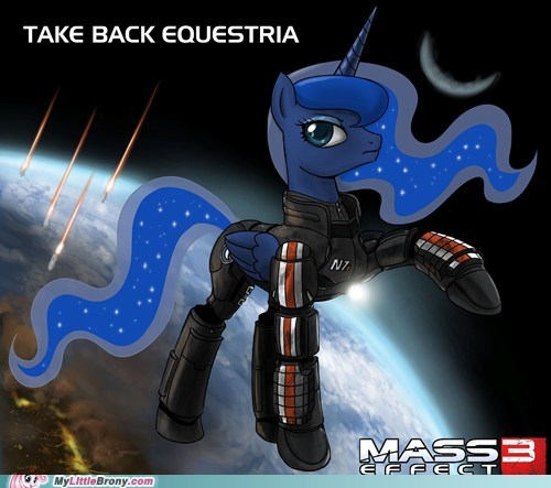 best of week,crossover,luna,mass effect 3,nightmare moon,reapers,video games