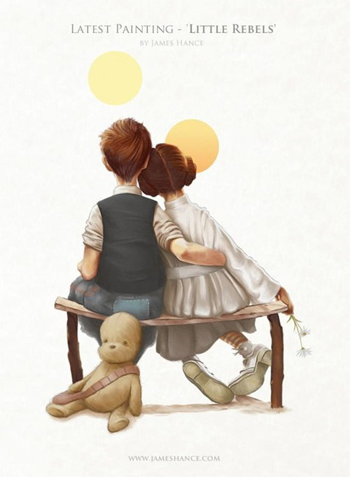 Fan Art Han Solo james hance leia little rebels mashups star wars - 5949537280