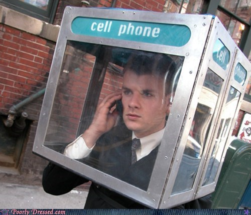 cell phone hat phone phone booth portable