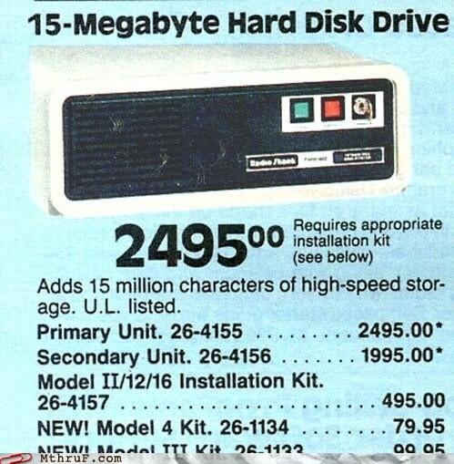 15 mb expensive Hall of Fame hard disk drive old ad vintage