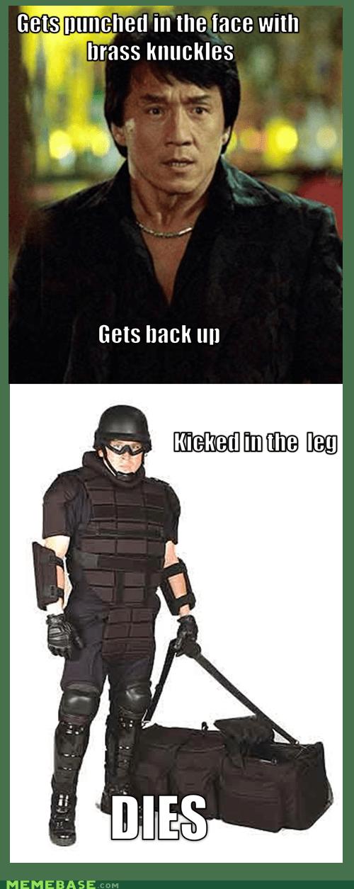 Jackie Chan,knuckles,Memes,punch,swat