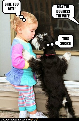 MAY THE DOG KISS THE WIFE! THIS SUCKS! SHIT, TOO LATE!