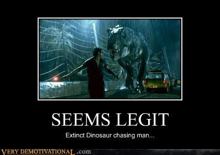 SEEMS LEGIT Extinct Dinosaur chasing man...