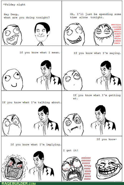 fu guy know what i mean Rage Comics troll face - 5950270720