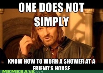 friends,house,one does not simply,shower