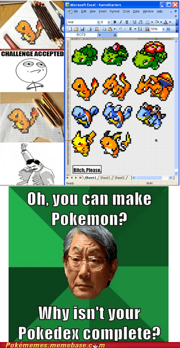 excel,high expectations Asian D,meme,Memes,office drone,pokedex