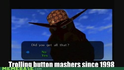 1998 button mashing Kaepora Gaebora Scumbag Steve video games zelda - 5951077888