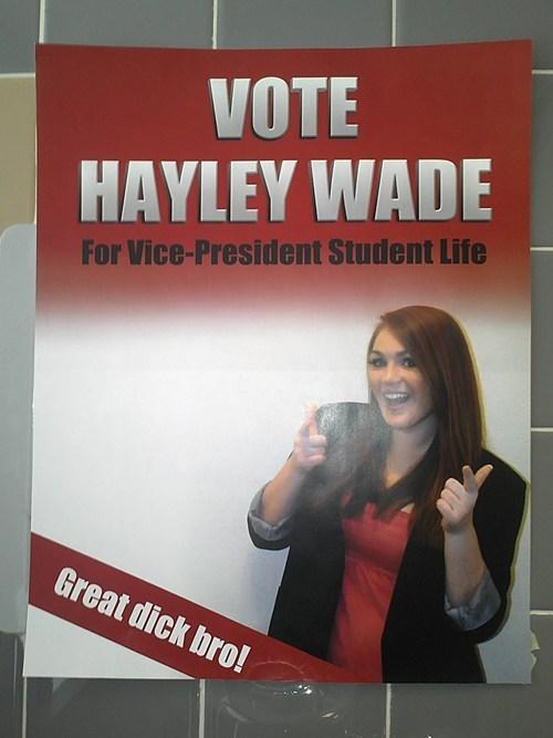 great dick bro,hayley wade,Photo,student elections,University of Calgary