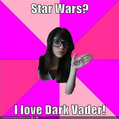 dark darth vader Idiot Nerd Girl star wars - 5952720128