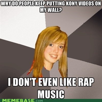 Kony,Music,Musically Oblivious 8th Grader,racism,rap,single,videos
