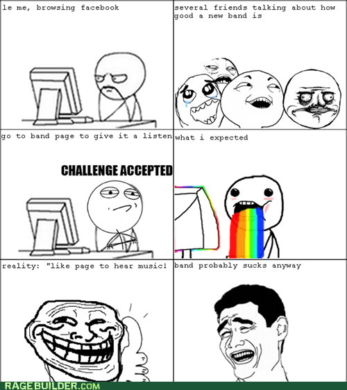 Challenge Accepted puke rainbows Rage Comics troll face yao ming - 5953226496