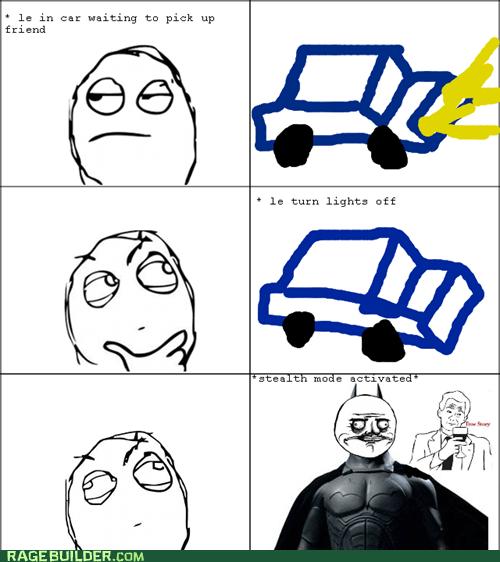 batman,car,driving,me gusta,Rage Comics,stealth