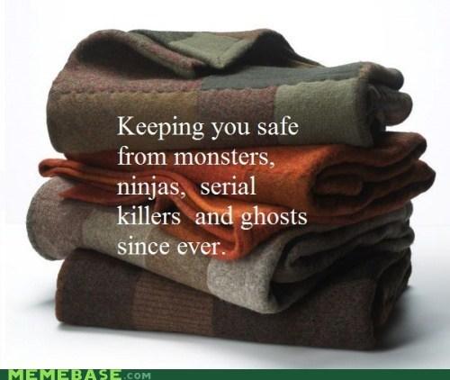 blankets chuck norris ghosts monster ninjas Text Stuffs - 5953467904