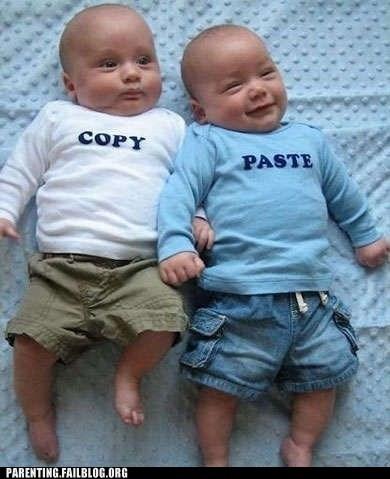 copy copypasta Paste twins - 5953525248
