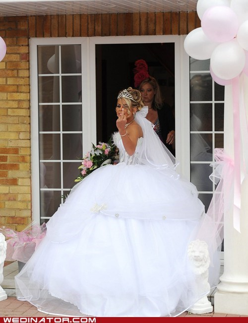 bride funny wedding photos Gypsy wedding irish travelers teenage bride - 5953756672
