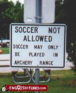 archery archery range park sign soccer - 5953812992