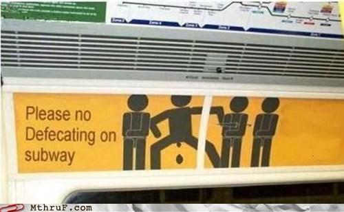 Subway warning - 5953816576