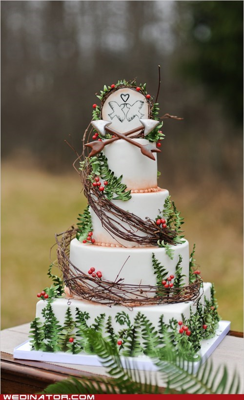 cakes,funny wedding photos,hunger games,wedding cakes