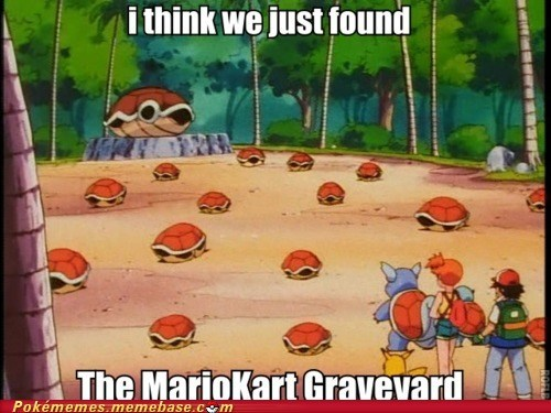 anime,best of week,graveyard,Mario Kart,Memes,Pokémon,red shell