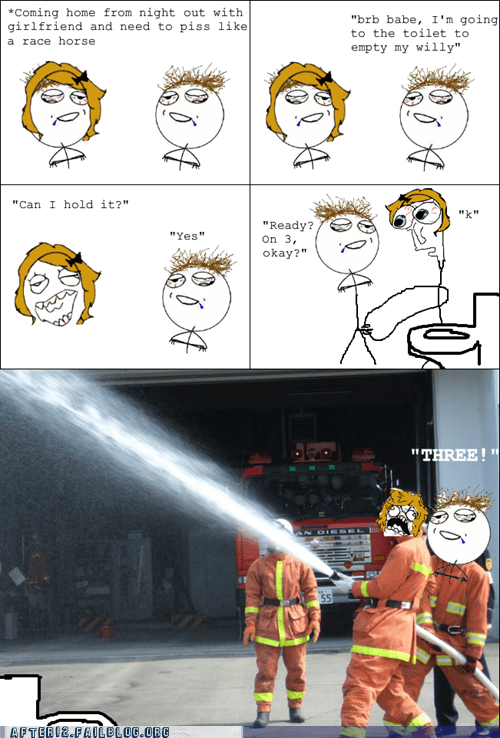 bathroom firehose pee pee joke rage comic