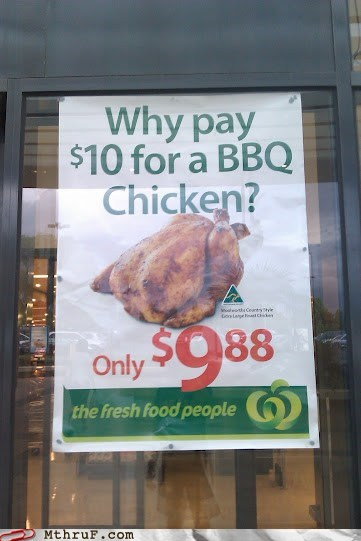 Cents,chicken,less money,save money,sign
