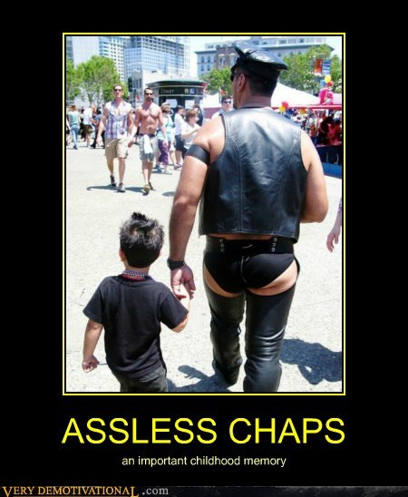 chaps,hilarious,kids,no pants,wtf