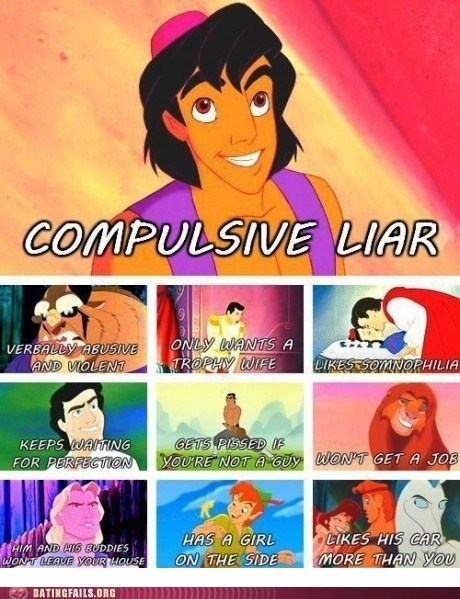 dating fails,disney,disney princes,not what they seem