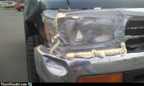 car fail,duct tape,headlight