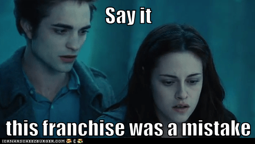 bella swan edward cullen franchise kristen stewart mistake robert pattinson say it twilight