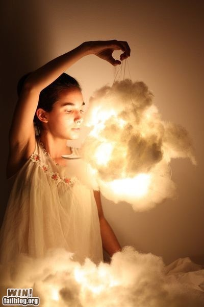 clever,cloud,decoration,design,lights