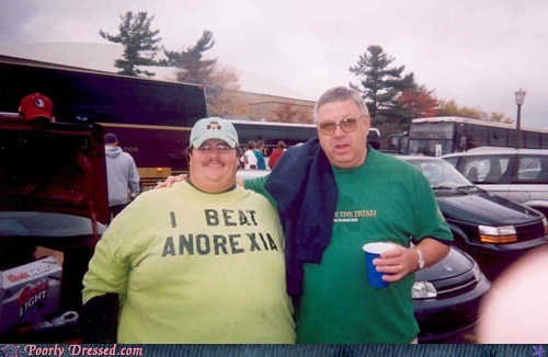 anorexia irish notre dame shirt