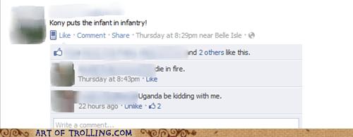 facebook,infantry,Kony,puns