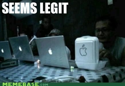 apple computer container lunch meme madness seems legit shiny