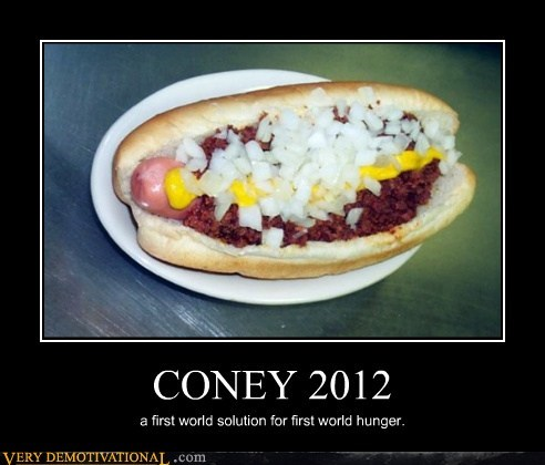 CONEY 2012 a first world solution for first world hunger.