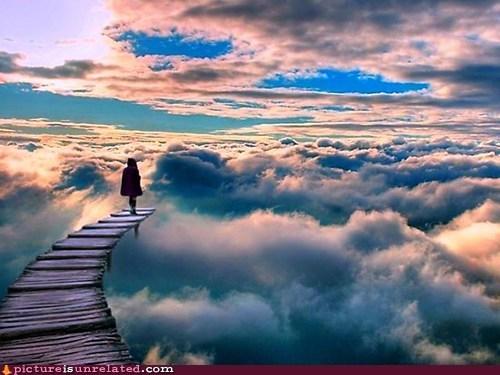 clouds,sky,walkway,wtf