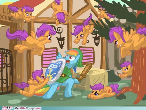 You don't attack the Scootaloos in Zelda