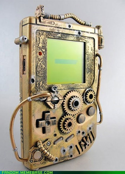 gameboy,It Came From the Interwebz,Steampunk,video games