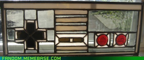 controller Fan Art NES stained glass video games - 5958453504