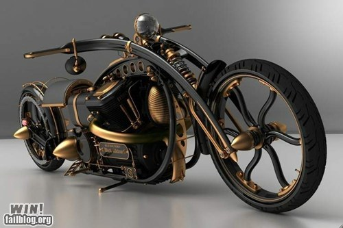 Black Widow Steampunk Custom Chopper WIN!