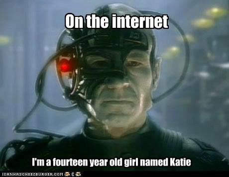 borg,Captain Picard,girl,internet,locutus,patrick stewart,Star Trek