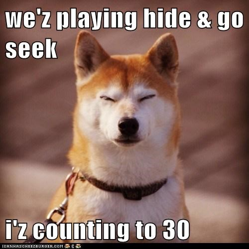 we'z playing hide & go seek i'z counting to 30