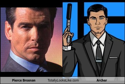 actor,archer,celeb,funny,Hall of Fame,pierce brosnan,TLL