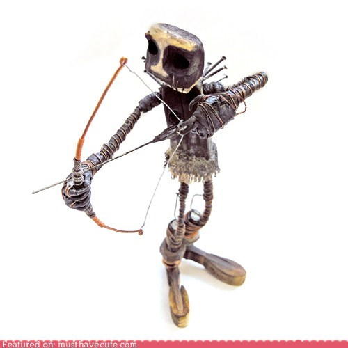 arrow bow metal model statue tiny - 5961246720