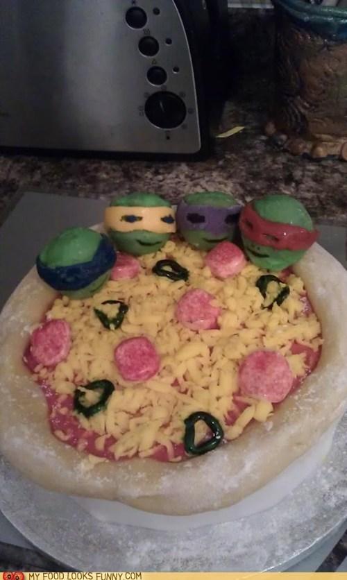 cake fondant pizza sweet teenage mutant ninja turt - 5961385984