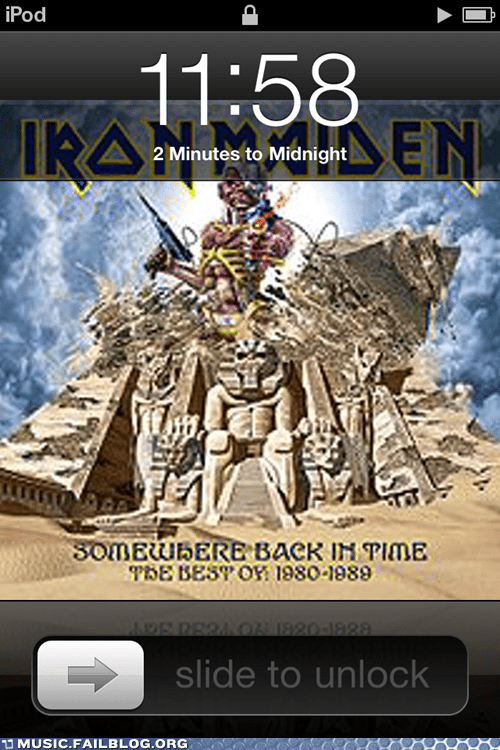 clock iron maiden lock screen metal time two minutes to midnight - 5961955328