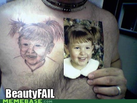 beauty FAIL failblog meme madness Memes tattoos - 5962286592